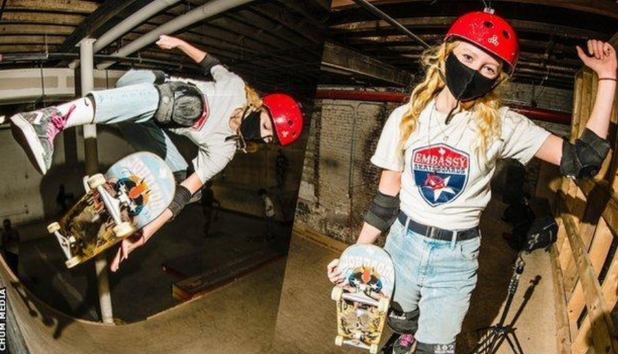 Girls are seious about skateboar