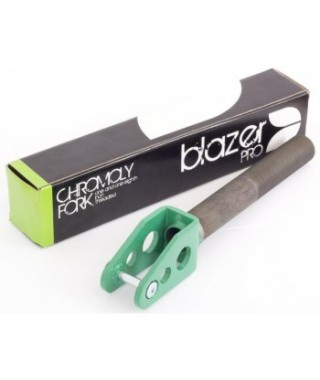 Blazer Pro Chromo Threaded Fork - Green