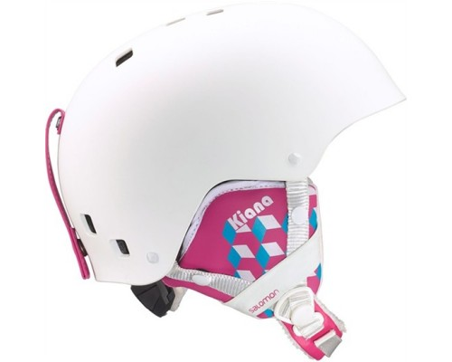 Salomon Kiana Junior Ski Helmet - White Matte